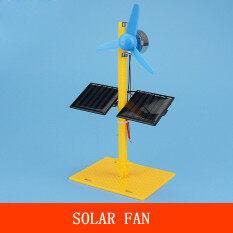 Máy Phát Điện Năng Lượng Mặt Trời Động Cơ DC Bảng Điều Khiển Quạt Nhỏ Tự Làm Bộ Mô Hình Khoa Học Giáo Dục