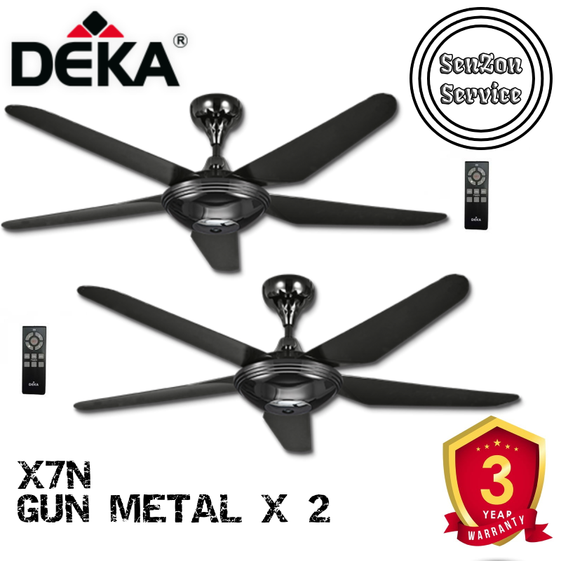 Twin Pack Deka X7n Gun Metal 56 Diameter 4 Speeds 5 A B S Blades Full Function Remote Control Ac Motor Lazada