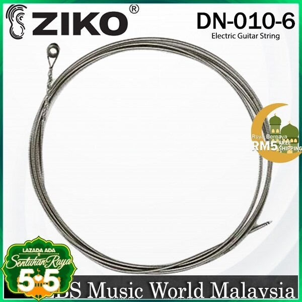 Ziko DN-010-6 Electric Guitar 6th Loose String Nickle Wound Extra Light Special Bright Malaysia