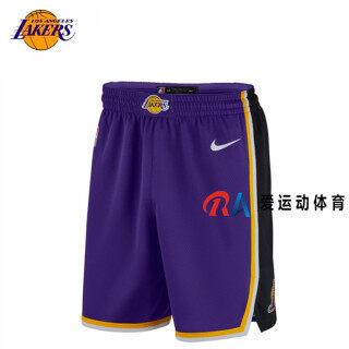 Nikee Shorts ShortsMen and Women NBA Basketball Uniform Shorts Pocket Mesh Stripe Los Angeles Lakers All-star Jerseys Students Sports Basketball Pants thumbnail