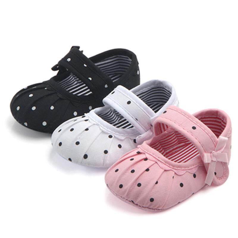 Bayi Perempuan Baru Lahir Sol Lembut Sepatu Santai Bahan Kanvas Anti Sneaker Tanpa Tali Prewalker 0-18 M By Sugarbabies.