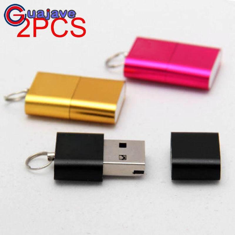 Guajave 2 cái Mini Đầu Đọc Thẻ Micro SD T-Flash SDHC Tốc Độ Cao USB Adapter