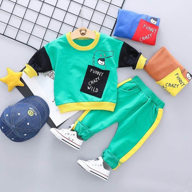 Trẻ em đeo MỘT Cotton Xuân Thu Áo len phù hợp cho bé trai đang chờ tóc