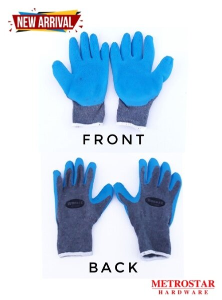 High Quality Industrial Coated Latex Rubber Gloves For Factory , Construction , Machinery , Gardening