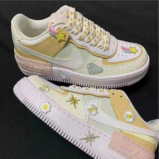 ˉSunflowerˉ ˉNikeˉ ˉAirˉ ˉForceˉ 1 ˉShadowˉ Khâu ˉAfˉ 1 ˉDaisyˉ Kem Phụ Nữ Của Sneakers Đệm Giày CK3172-002 giá rẻ