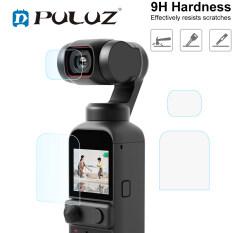Kính Cường Lực Vòng Bảo Vệ Ống Kính Máy Ảnh Của Điện Thoại PULUZ 9H 2.5D HD + Miếng Dán Film Màn Hình Cho DJI OSMO Pocket 2