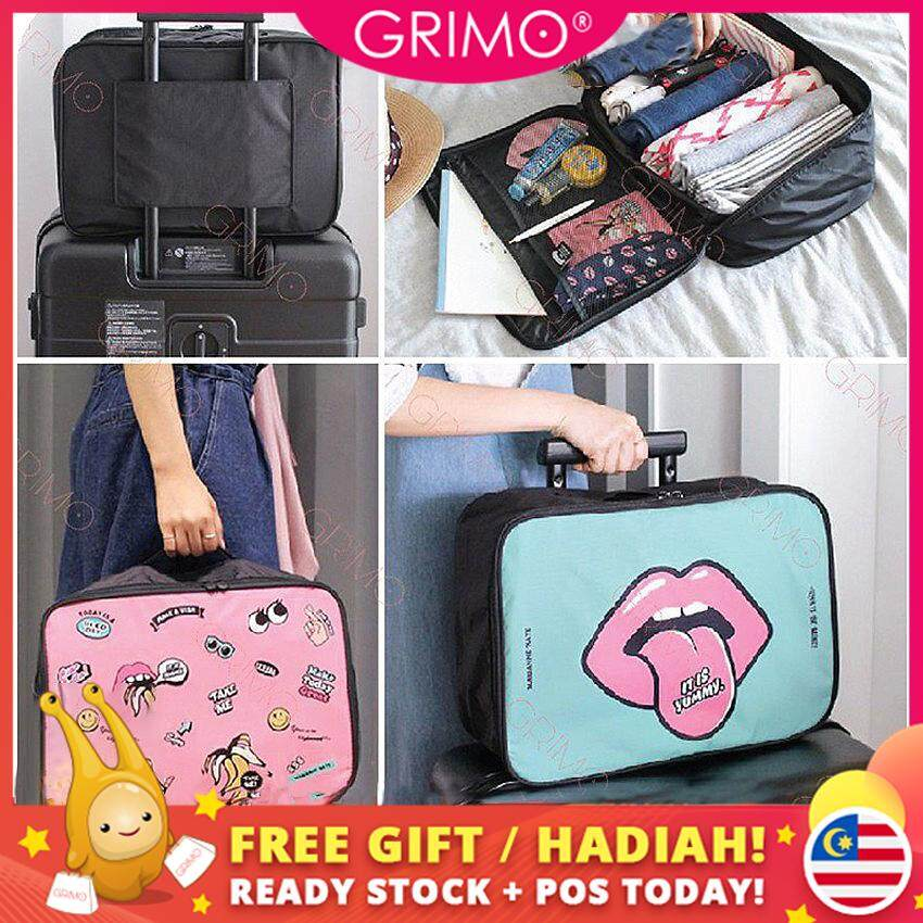Grimo Malaysia - Cute Luggage Waterproof Bag Travel Sport Beg Tangan Bags Handbag For Women Lady Perempuan Gift Hadiah For Ladies Student Gift Hadiah For Shoulder Casual Dinner Cantik Girl Raya Korea Japan By Grimo Shop.