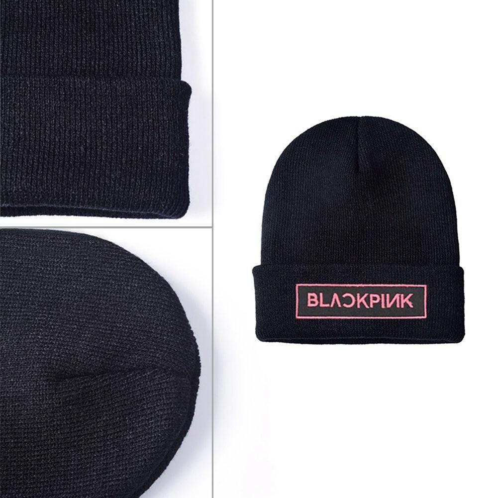 KPOP BLACKPINK Beanie Hat Unisex JISOO Knit Cap SKI Winter JENNIE