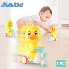 HelloKimi Quà Tặng Trẻ Em Đồ Chơi Trẻ Em Gái Đồ Chơi Quà Tặng Đồ Chơi Vịt Vàng Nhỏ Cartoon Kids Toy Press Duck Toy Motorcycle Toy Child Kid Gift Motorcycle Model Pull Back Inertia Toys Eco-friendly Anti-Collision Material Yellow Duck for Baby