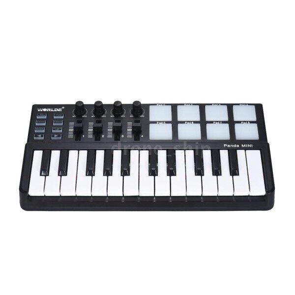 D&S WORLDE Panda MINI 25-Key Ultra-Portable USB MIDI Keyboard Controller 8 Colorful Backlit Trigger Pads Malaysia