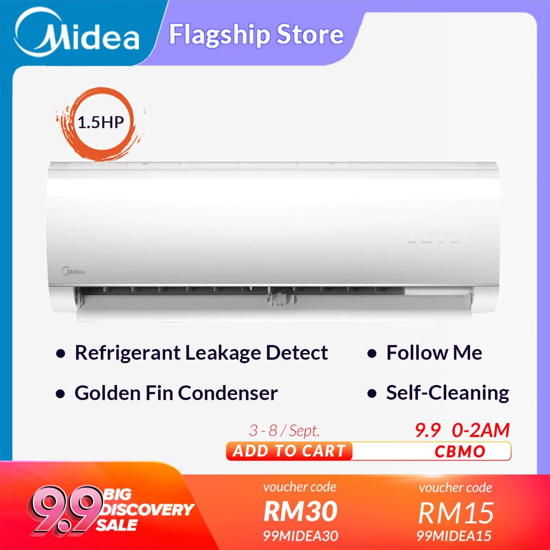 [Lazada Exclusive] Midea 1 5hp Air Conditioner MSMA-12CRN1 ( Non Inverter )  Aircond