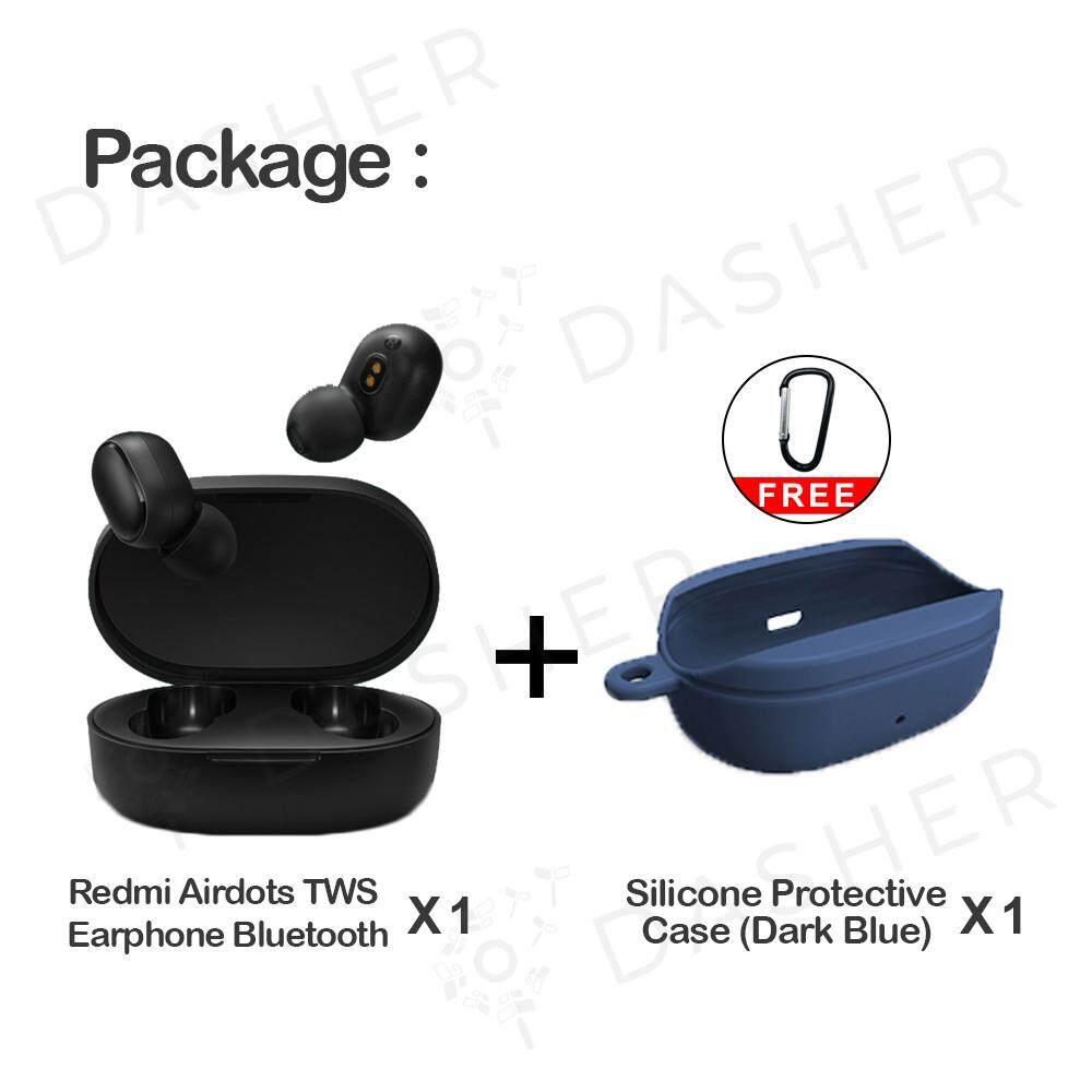 [LATEST] Xiaomi Redmi AirDots TWS Mi True Wireless EarBuds Basic Earphone  Bluetooth 5 0 Bass Voice Control (BLACK)