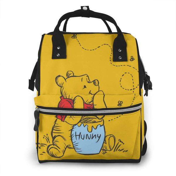 Diaper Bag Backpack - Winnie The Pooh Multifunction Waterproof Travel Backpack Maternity Baby Nappy Changing Bags