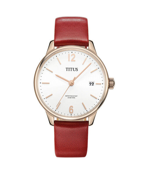 Solvil et Titus W06-02938-002 Womens Quartz Analogue Watch in Silver White Dial and Leather Strap Malaysia