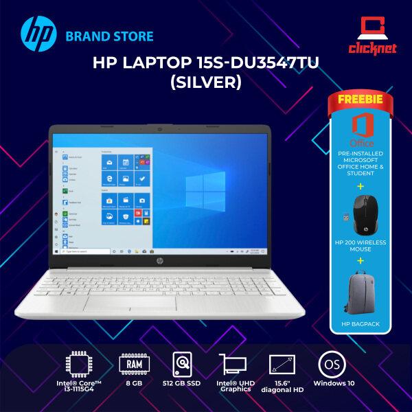 HP Laptop 15s-du3547TU (Intel Core I3-1115G4 ,8GB, 512GB SSD, 15.6HD, Win 10,H&S ,2 Years) Malaysia