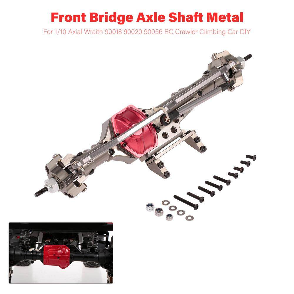 Front Bridge Axle Shaft Metal For 1/10 Axial Wraith 90018 90020 90056 Rc Crawler Climbing Car Diy By New Plus.