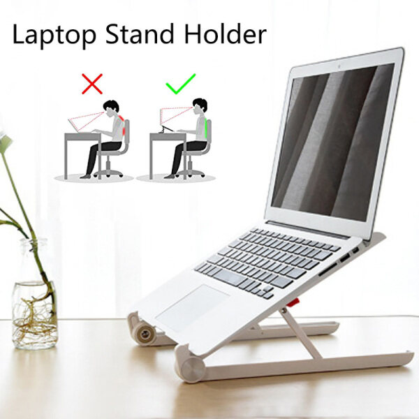laptop stand diy Portable Adjustable Laptop Desktop Stand for MacBook iPad Desk Holder Mount Stand Business Accessories for 11 to 15.6 inches laptop stand alumini laptop stand bed laptop stand holder