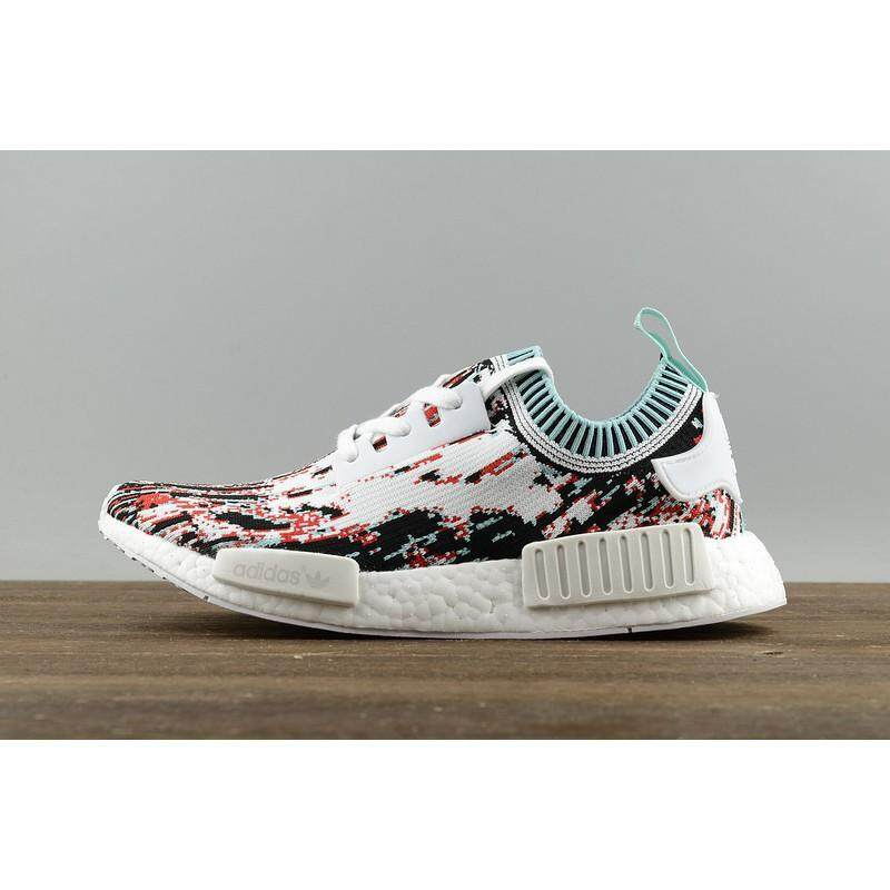 a6d6f30f6480e Original Adidas NMD R1 Running Shoes Men Women Sneakers Primeknit Datamosh  Red