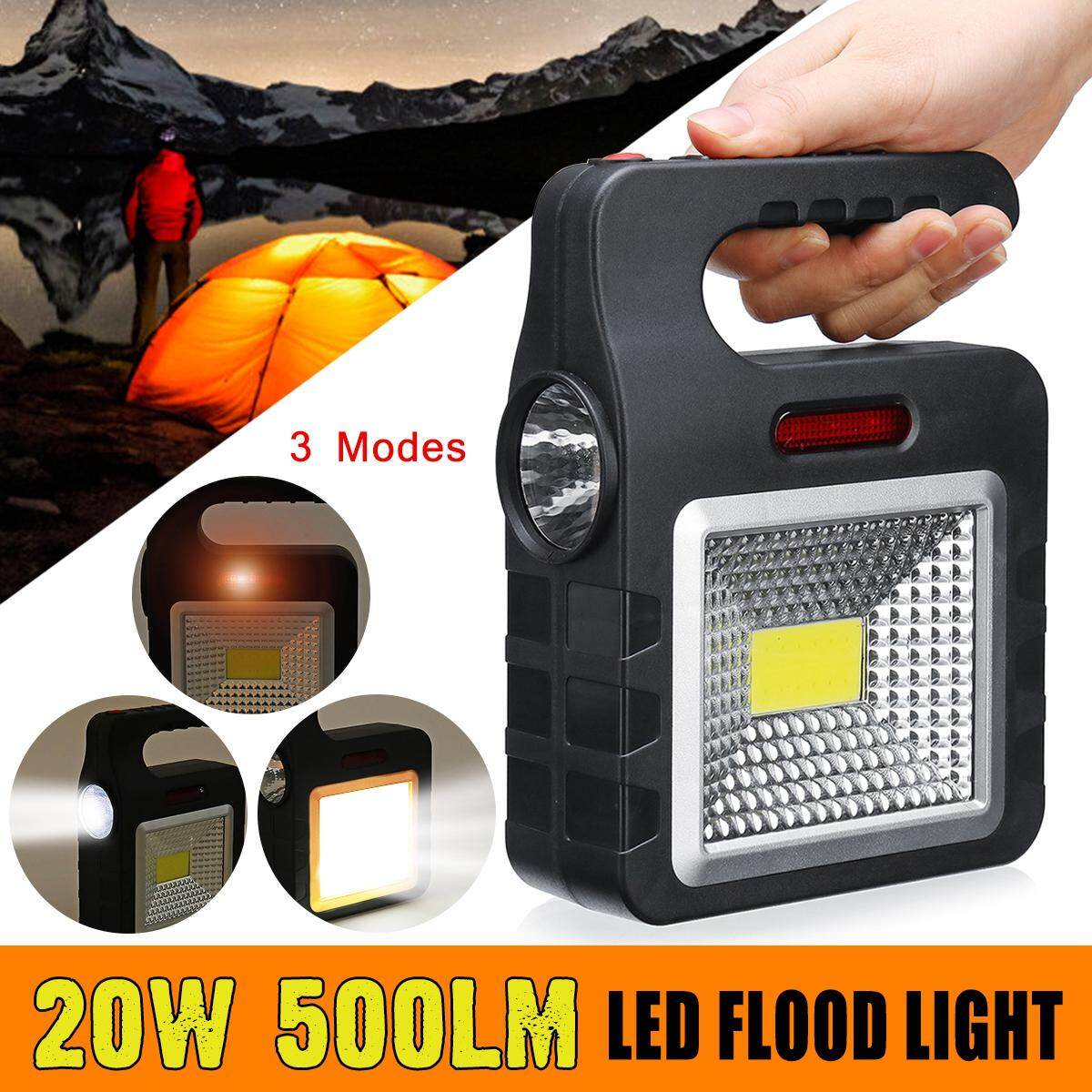 【Free Shipping + Flash Deal】Rechargeable Work Light Floodlight Portable Camping Spotlight LED Waterproof