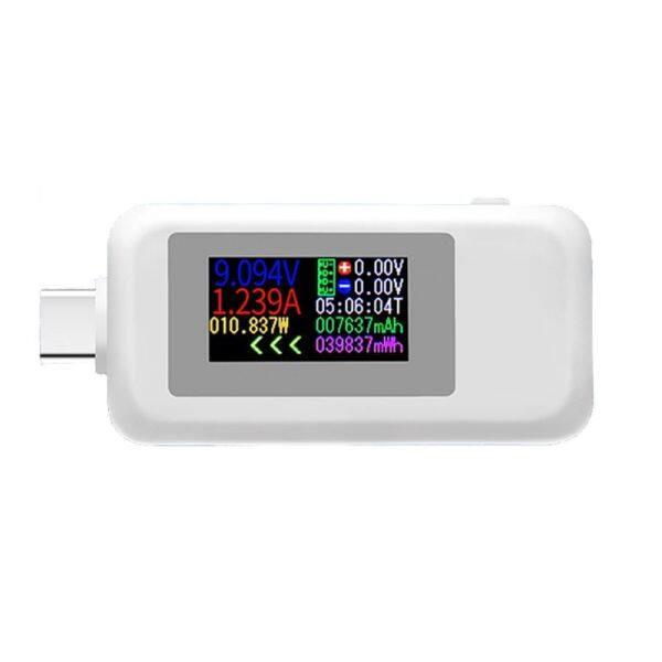 KWS-1902C Type-C Màn Hình Màu Thiết Bị Kiểm Tra USB Hiện Tại Vôn Kế Power Meter Pin Di Động Ngân Hàng Charger Detector Type-C Màn Hình Màu USB Kiểm Tra Hiện Tại Vôn Kế