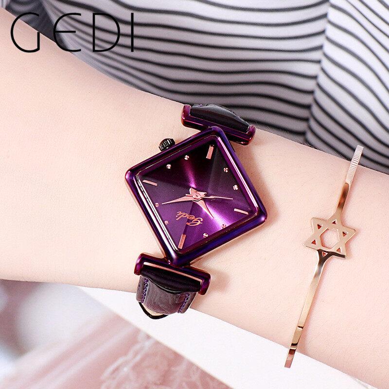 Nơi bán GEDI 12026 P Dây da Đồng hồ nữ thời trang kim cương đồng hồ nữ Khả năng chống xước đồng hồ chống nước Đồng hồ thạch anh đồng hồ nữ