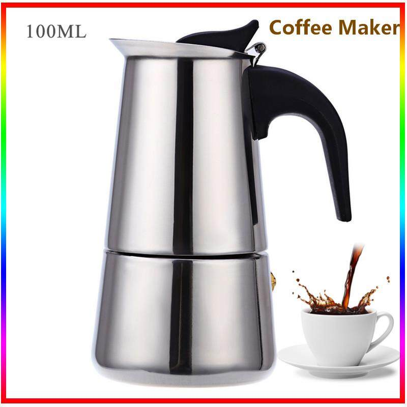 100ml/200ml/300ml/450ml Stainless Steel Mocha Espresso Latte Percolator Stove Coffee Maker Pot By Enrich Your Life.