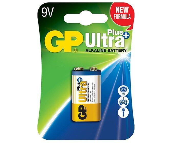 GP Ultra Plus Alkaline 9V Battery - GP1604AUP-5U1 Malaysia