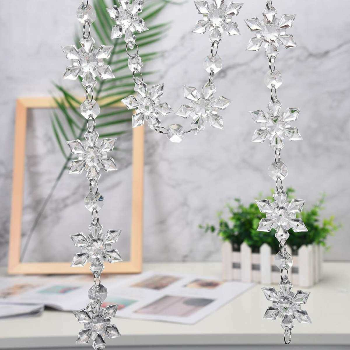 Bnenesmont Acrylic Snowflake Christmas Wedding Tree Hanging Decoration Decoration For Diy P Christmas Tree Decorations Set 2020 New Popular On Sale Lazada