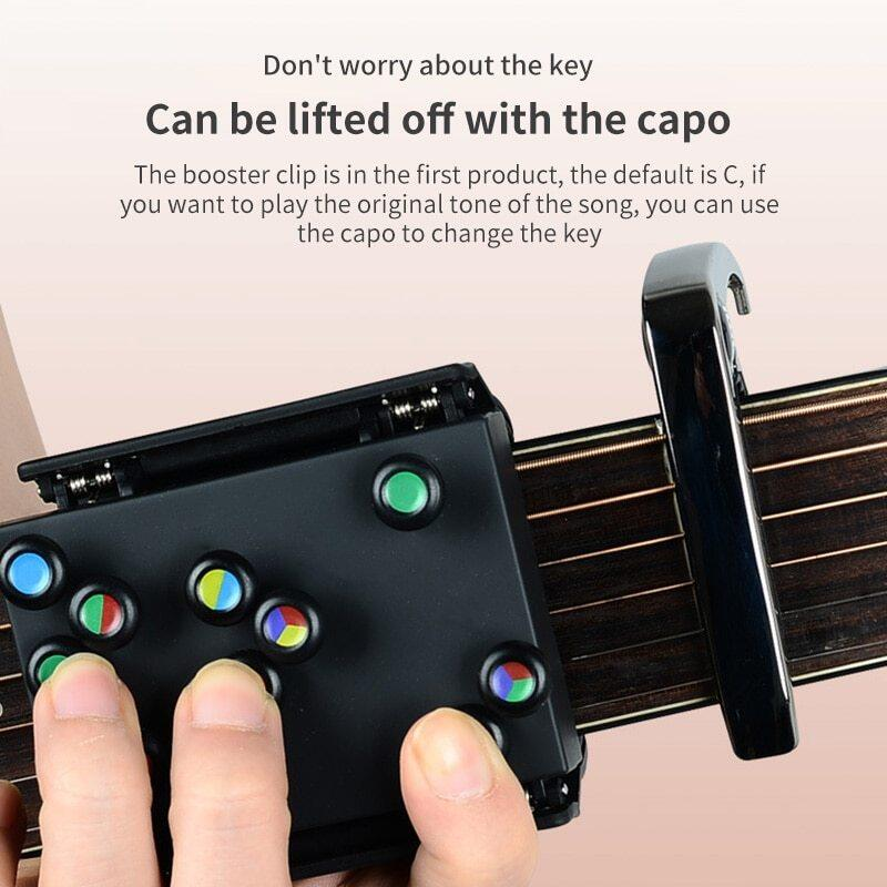 New Guitar Learning Chords Beginner Teaching Aid Learning System Guitar Trainer Practice Acoustic Guitar Accessories Chord Buddy Malaysia