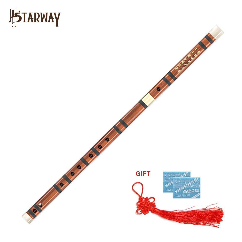 STARWAY Nhạc Cụ Sáo Tre Đắng Sáo Dizi Chuyên Nghiệp Âm Nhạc Gió Gỗ Thủ Công Trung Quốc Chìa Khóa Của C D G E F
