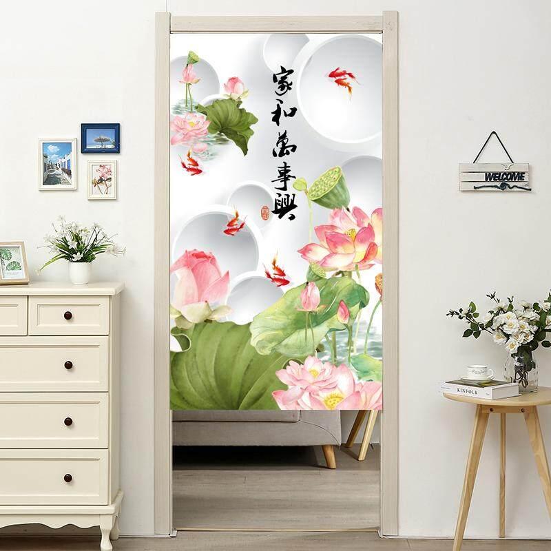 Chinese Style Landscape Long Door Curtains Bedroom Room Dividers Bathroom Toilet Half Door Curtain Decoration Modern Kitchen Cloth Short Door Curtain Lazada