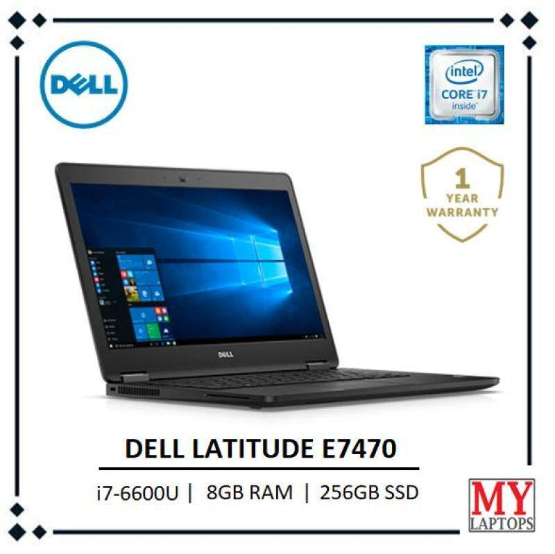 Dell Latitude E7470 Core i7-6600U 2.6GHz / 8GB DDR4 / 256GB SSD / Ultrabook Malaysia