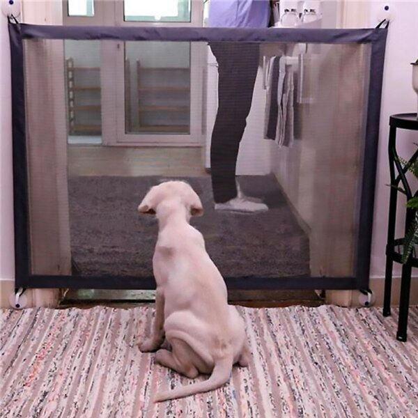 2 Kích Thước Trang Chủ Họa Tiết Cún Cưng Hàng Rào Pet Isolated Mạng Cầu Thang Cổng GẤP LƯỚI Playpen Cho Chó Mèo Hàng Rào An Toàn Cho Bé