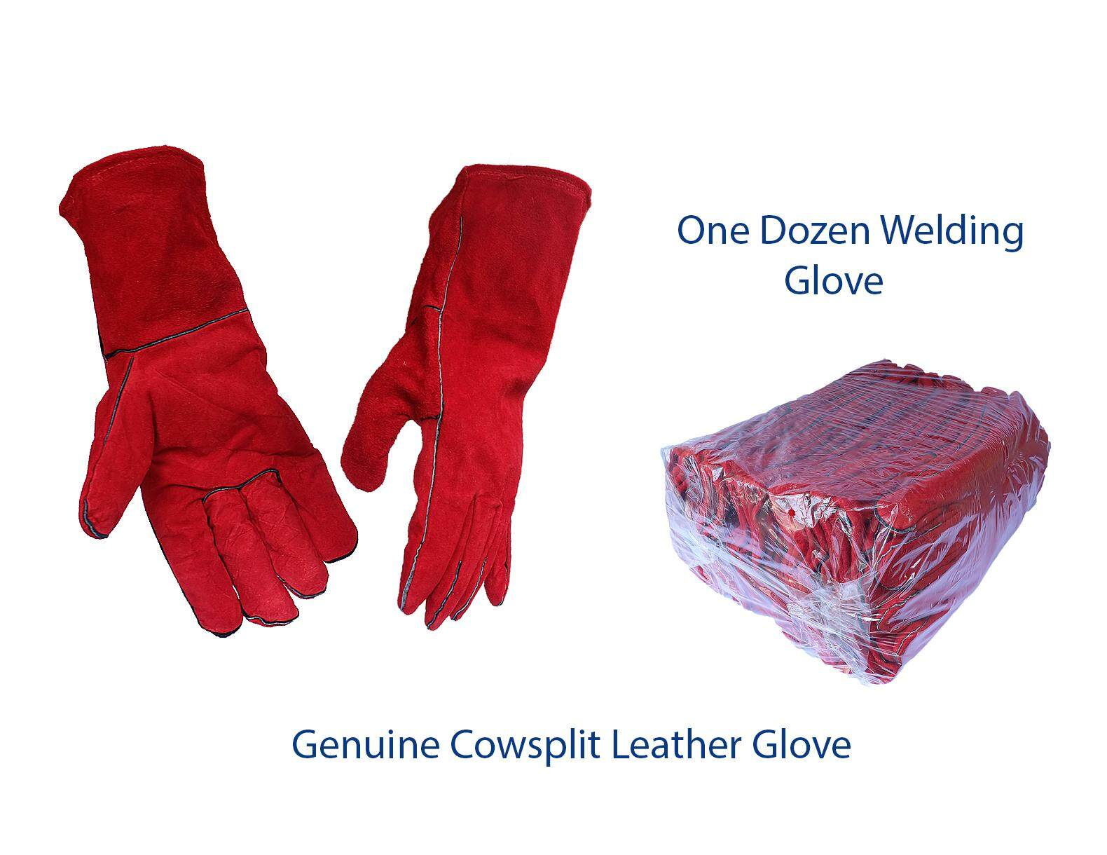 Safety Welding Leather Glove 13 One Dozen for Heat Resistance and Hand Protection