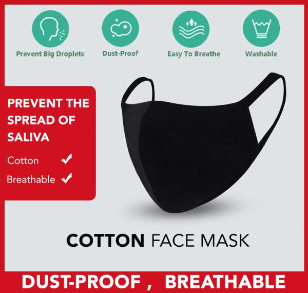 1PC Cotton Washable Thick Korean Fashion Anti-Dust Cotton Mouth Face Respirator Mask Elegant Comfortable Anti Haze Face Black