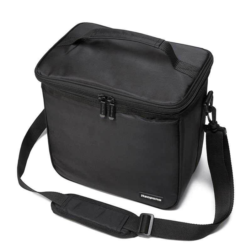 eeecadbf74ea New Double Zipper Lunch Bag Insulation Lunch Bag Solid Thermal Lunchbox  Food Picnic Bag For Men Women Portable Cooler Tote