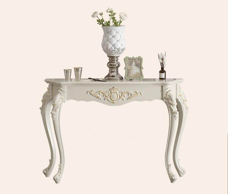 Console Table European Style in the Living Room Bedroom 60/70/80cm Four Colours Available by Olive Al Home