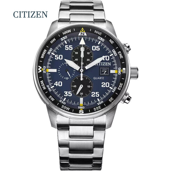 Citizen CA0690 Quartz Movement Mens Watch CITIZEN Casual Sport Watches for Men Blue Top Brand Luxury Military Leather Wrist Watch Malaysia