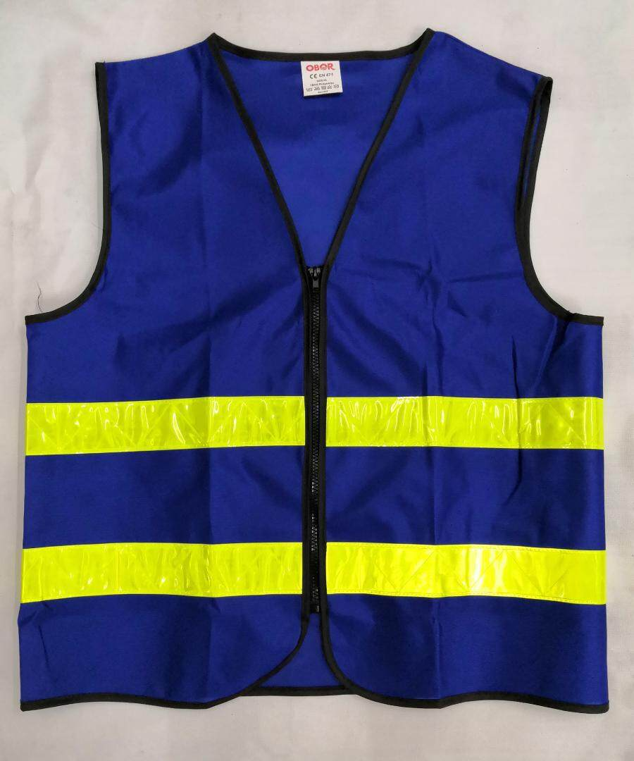 (LOCAL STOCK) SAFETY VEST ROYAL BLUE  WITH YELLOW REFLECTIVE