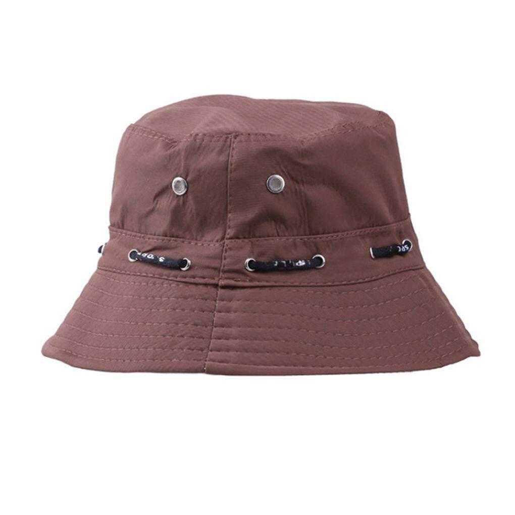 Elenxs Musim Panas Kapas Safari Ember Hiking Topi Nelayan Sun Topi Yang Mudah  Hancur 88a102905e