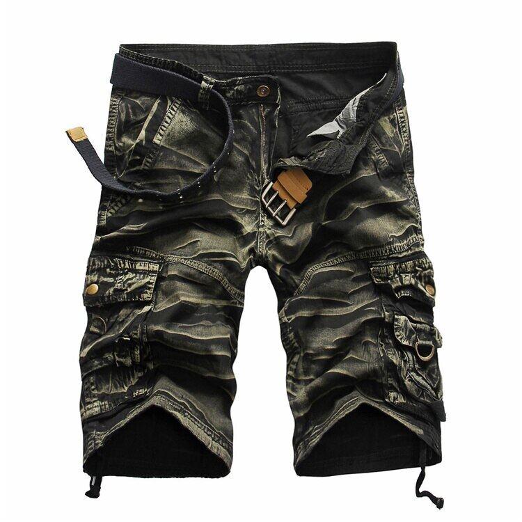 Quality Brand Men Cargo Shorts 2019 Summer Male Casual Shorts Waist Mens Street Cargo Short (No Belt)