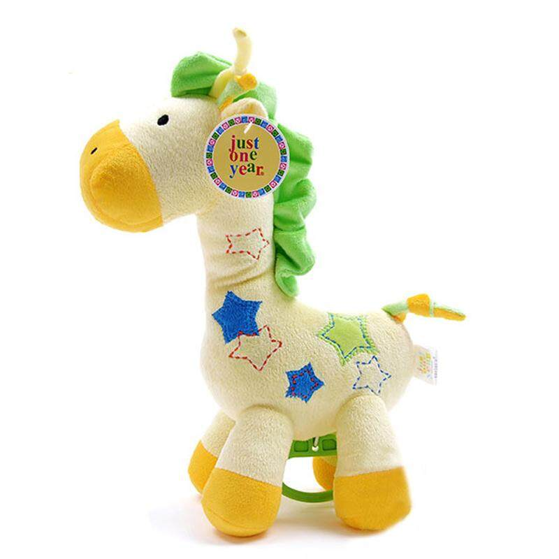 Oem Yellow Giraffe Baby Dolls Newborn Music Rattles Soft Stuffed Toy (yellow) By Langyao.