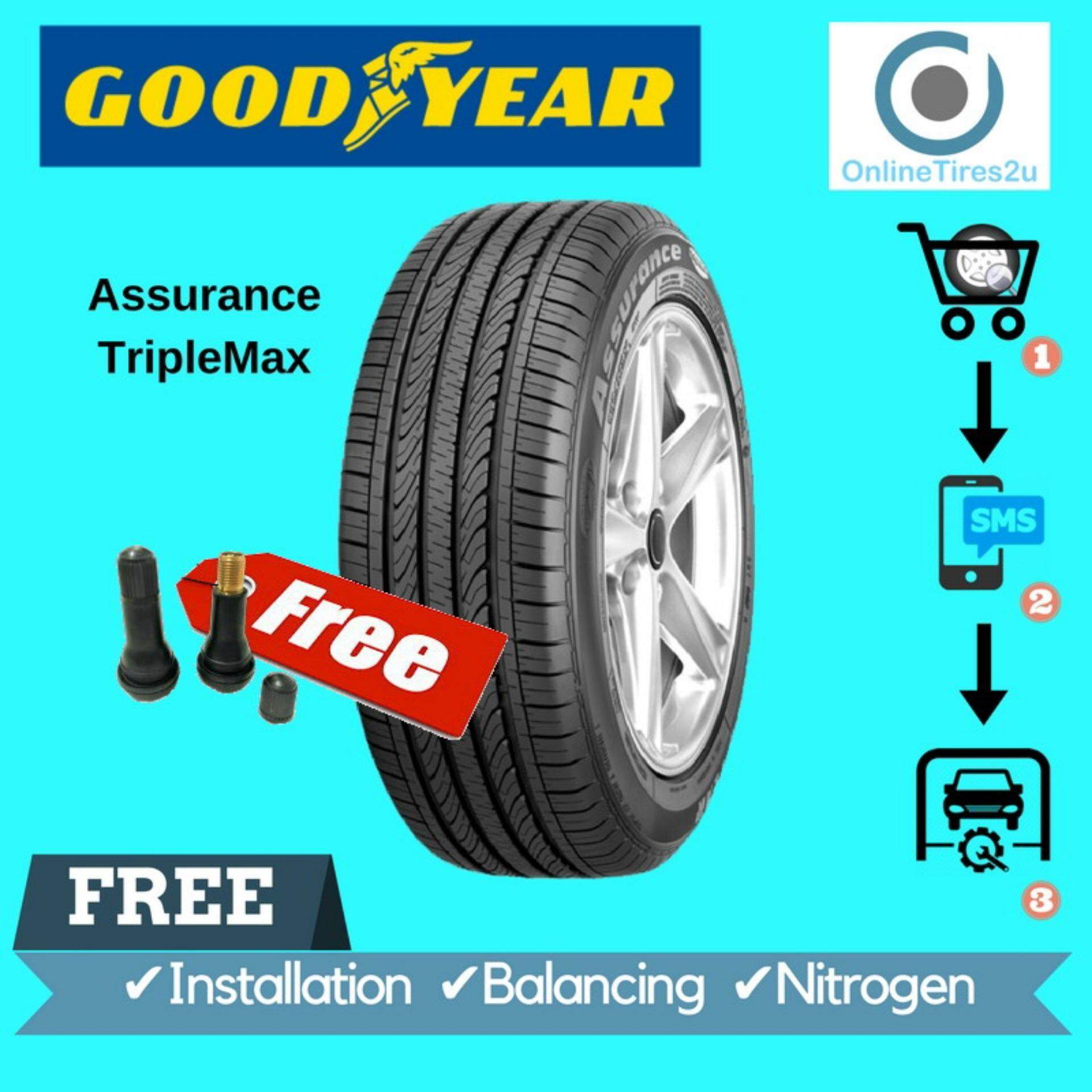 Goodyear Assurance Triplemax - 185/55r15 (with Installation) By Onlinetires2u.