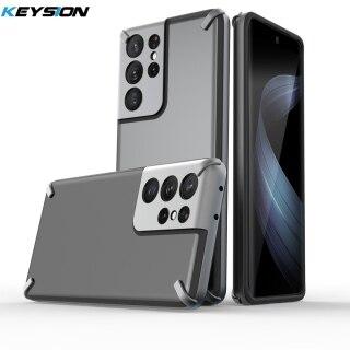 Ốp Chống Sốc KEYSION, Ốp Lưng PC Mạ Cao Cấp Cho Samsung S21 Ultra 5G Ốp Lưng Điện Thoại Silicon Dành Cho Galaxy S21 S21 + Plus thumbnail