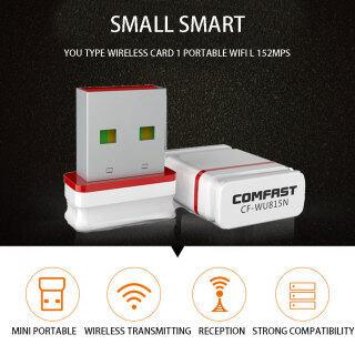 OnMars Đầu Thu WIFI USB 2.4G Bộ Chuyển Đổi USB Không Dây Mini, Bộ Chuyển Đổi Wifi Mạng Lan Máy Tính Tốc Độ Cao Bộ Thu Thẻ Mạng Bền Máy Tính Để Bàn Máy Tính Xách Tay PC Wifi Adapter Bộ Thu Wi-Fi thumbnail