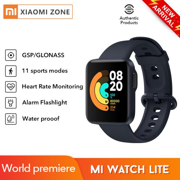 [Phiên bản toàn cầu] Toàn cầu Xiaomi Mi Watch Lite GPS GLONASS Bluetooth 5 Đồng hồ thông minh 5ATM Dây đeo mi chống nước Thể thao Thể dục thể thao Heart R-ate Màn hình phù hợp cho POCO M3 POCO X3 pro