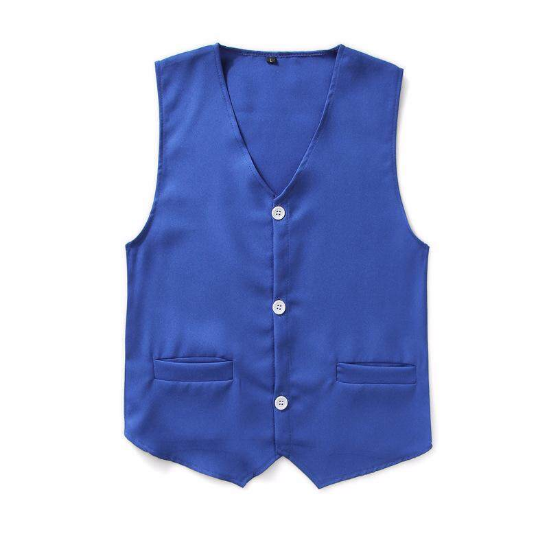 Kid Vest Waistcoat Girls Boys V-neck Button Down Party Costume Wedding Formal