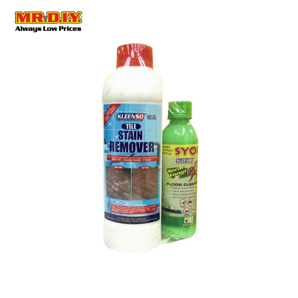 KLEENSO Tile Stain Remover (1L) and Serai Wangi 99 Floor Cleaner (250ml)