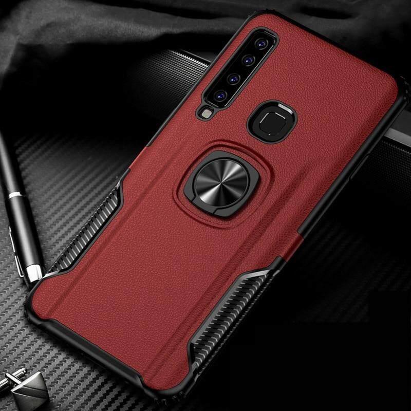 Untuk Samsung Galaxy A9 2018 Case Logam Cincin Dudukan HP Mobil Casing Silikon untuk Samsung Galaxy A9 2018 Telepon Penutup Belakang