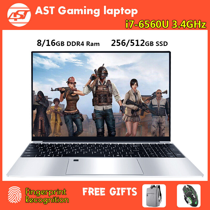 New notebook 15.6 inch intel core i7-6560U 16G DDR4 RAM 256G/512G SSD With 1920*1080HD Screen Fingerprint recognition Backlit Keyboard Laptop Malaysia